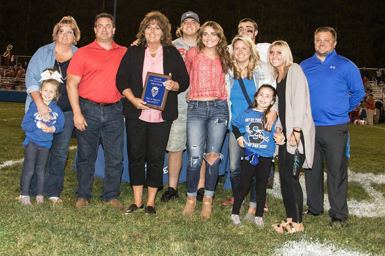 HOF Recipient Mary Jo Staunch and family