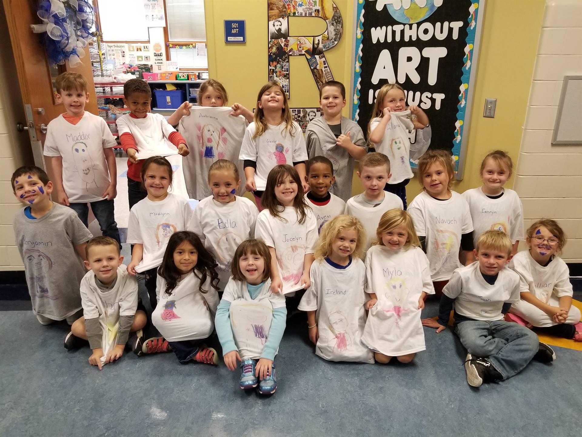 kindergarten art shirts 2018